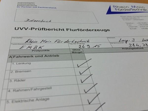 UVV-Prüfungen bei RMFT