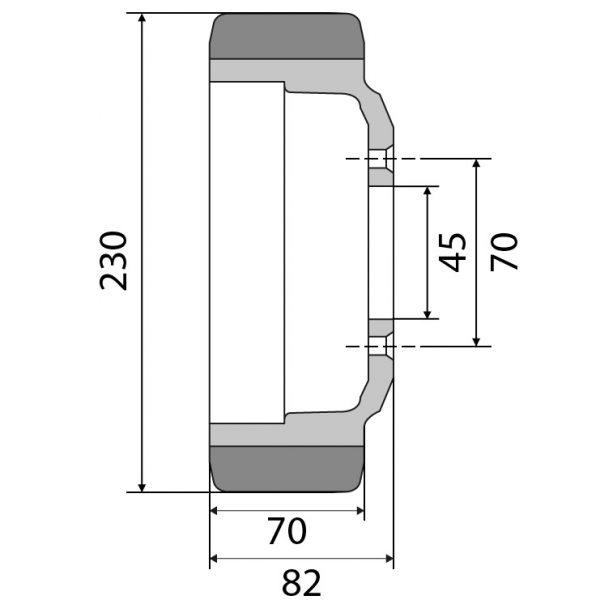 Antriebsrad 230×70 Vulkollan für Jungheinrich 63210590 von Räder Vogel