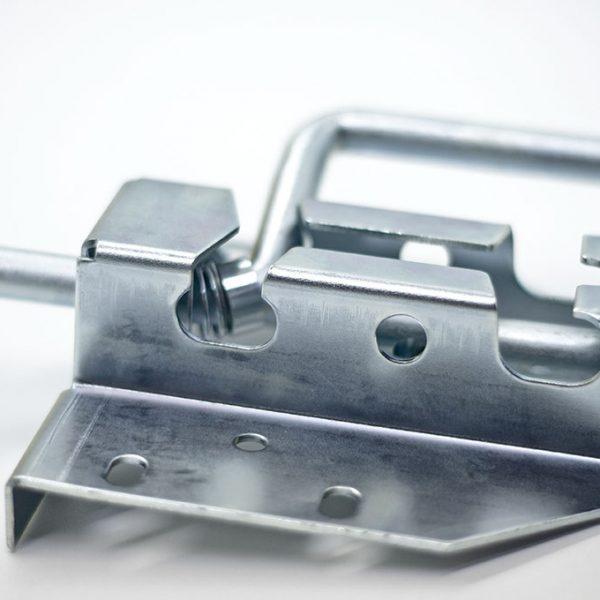 Schubriegel mit Bügel aus verzinktem Stahl