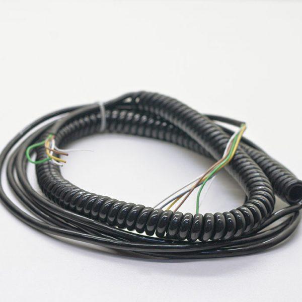 Spiralkabel 5-aderig 3 meter 5x0,5mm²