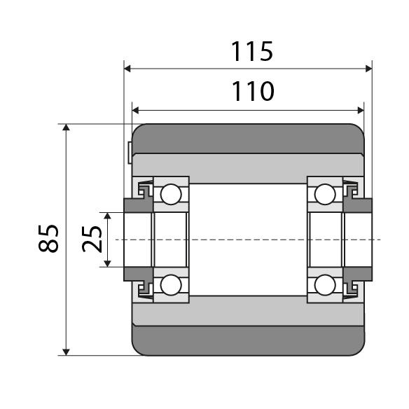 Lastrolle 85x110 passend für Jungheinrich Nummer: 27631340