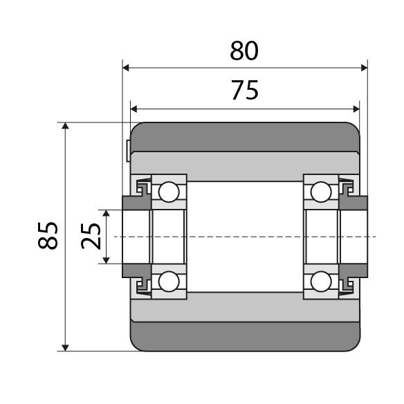 Lastrolle 85x75 passend für Jungheinrich Nummer: 27631320