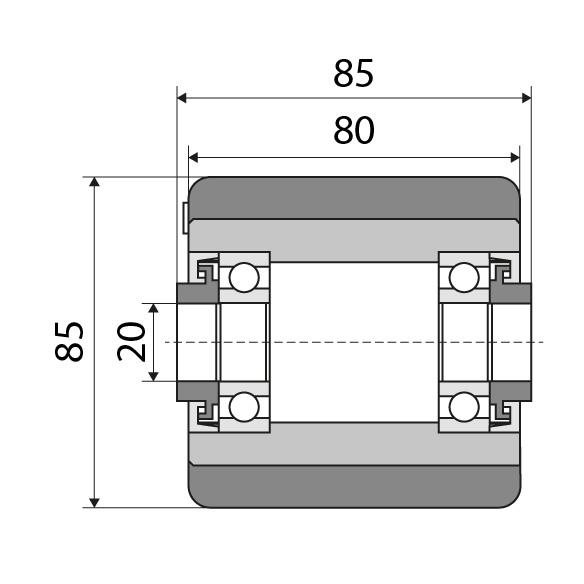Lastrolle 85x80 passend für Linde Nummer: 0009903524