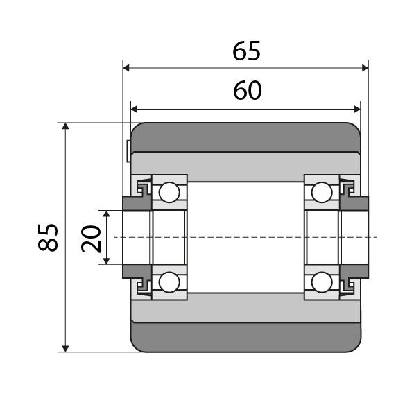 Lastrolle 85x60 passend für Linde Nummer: 1418501103