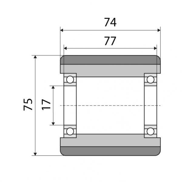 Lastrolle 75x74